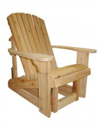 Click to enlarge image Standard Adirondack Glider, 20`` seat width -  Glide your day away